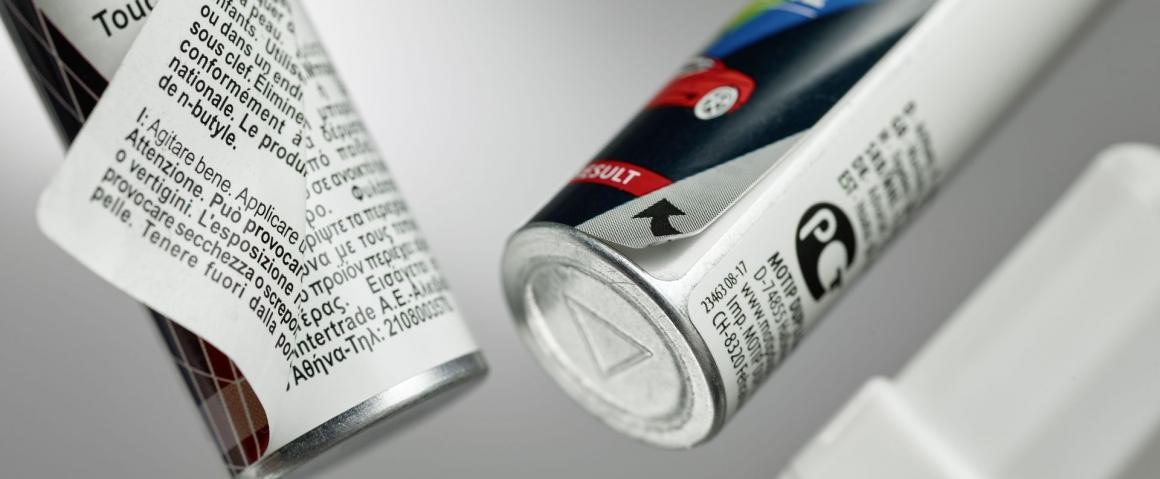 Produktbeispiel mehrlagige Etiketten